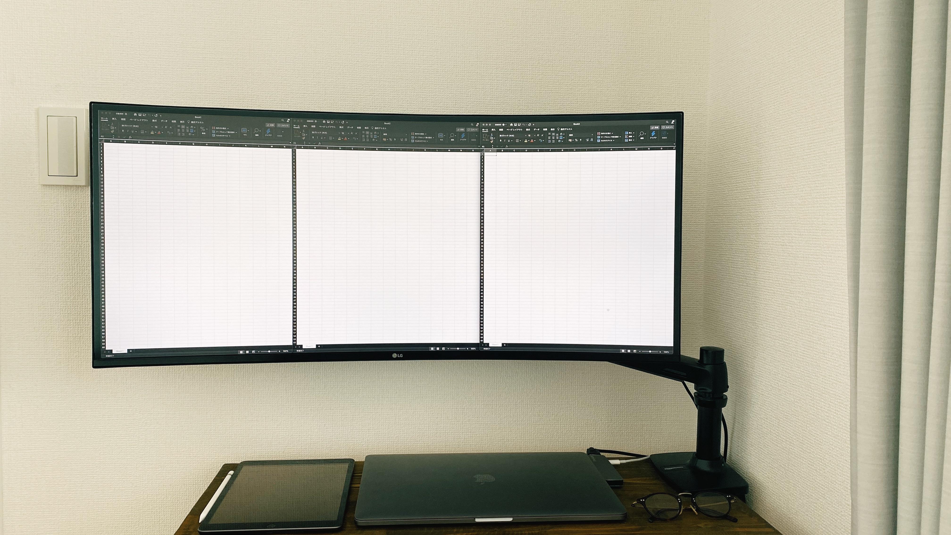LG34インチウルトラワイドモニター_Excel